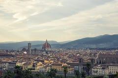 Sikt av staden av florence i Italien Royaltyfria Foton