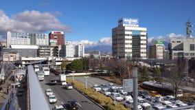 Sikt av staden i Nagano, Japan lager videofilmer