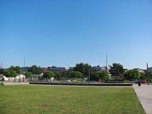 Sikt av staden, Ljubljana, Slovenien arkivbild