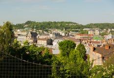 Sikt av staden Lviv från en höjd Royaltyfria Bilder