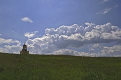 Sikt av staden av Nizhny Tagil uppifrån av berget Arkivbilder