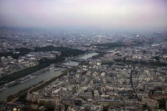 Sikt av staden av Paris fr royaltyfria foton