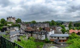 Sikt av staden av Pau, fransk stad i Aquitaine arkivfoto