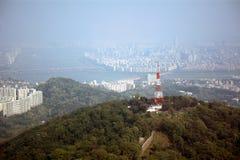 Sikt av staden, Seoul, koreansk republik Fotografering för Bildbyråer