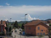 Sikt av staden av Settimo Torinese arkivfoto