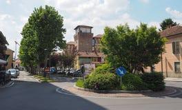 Sikt av staden av Settimo Torinese arkivbilder