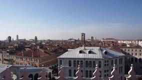 Sikt av staden av Venedig från deien Tedeshi, video för varuhus T Fondaco arkivfilmer