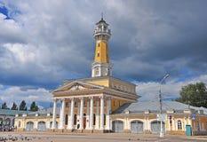 Sikt av stadfyrkanten av Kostroma Arkivbilder