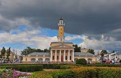 Sikt av stadfyrkanten av Kostroma Arkivbild