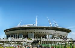 Sikt av stadion Arkivfoto