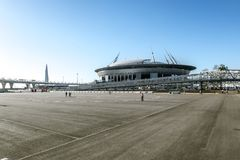 Sikt av stadion Royaltyfria Bilder