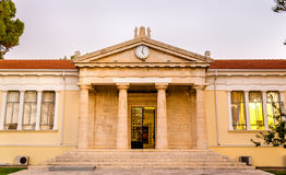Sikt av stadshuset av Paphos Arkivfoton