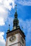 Sikt av stadshuset i Olomouc, Tjeckien Arkivfoton