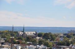 Sikt av Stamford, Connecticut royaltyfri bild