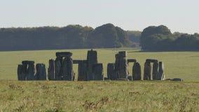 Sikt av Stonehenge i England Royaltyfri Bild