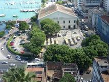 Sikt av stranden av Salvador Bahia. Royaltyfri Bild