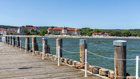 Sikt av stranden i Sopot, Arkivfoton