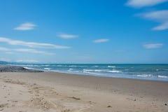 Sikt av stranden på Ynyslas Royaltyfri Fotografi