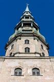 Sikt av Sts Peter domkyrka i Riga Royaltyfri Fotografi