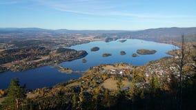 Sikt av Sundvolllen, Norge Arkivfoton
