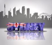 Sikt av Sydney Arkivbild