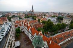 Sikt av Szczecinen i Polen Royaltyfria Foton