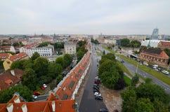 Sikt av Szczecinen i Polen Fotografering för Bildbyråer