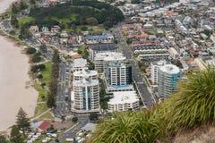 Sikt av Tauranga från monteringen Maunganui Fotografering för Bildbyråer