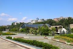 Sikt av Tbilisi, Georgia arkivfoto
