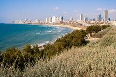 Sikt av Tel Aviv från Jaffa Royaltyfri Foto