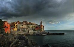 Sikt av Tellaro, Liguria Royaltyfria Foton