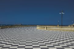 Sikt av Terrazza Mascagni i Livorno arkivfoton