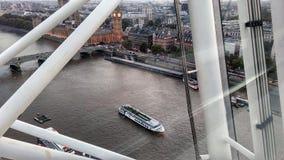 Sikt av Themsen från det London ögat royaltyfri bild