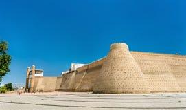 Sikt av tillflyktfästningen i Bukhara, Uzbekistan arkivfoton