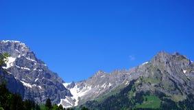Sikt av titlisberg Engelberg Royaltyfria Bilder