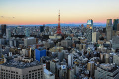 Sikt av Tokyo Arkivbild
