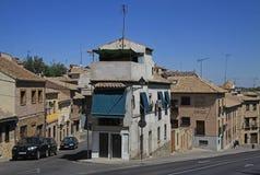 Sikt av Toledo gator spain Arkivbilder