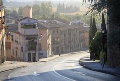 Sikt av Toledo gator spain Arkivbild