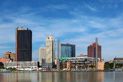 Sikt av Toledoen, Ohio horisont Royaltyfria Bilder