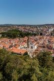 Sikt av Tomar, Portugal Arkivfoto