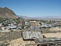 Sikt av Tonopah, Nevada Arkivbilder