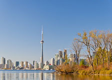 Sikt av toronto cityscape Kanada Arkivfoton