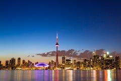 Sikt av Toronto Kanada Cityscape Arkivfoton