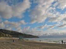 Sikt av Torrance Beach och Palos Verdes Peninsula i Kalifornien Royaltyfria Bilder