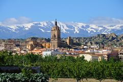 Sikt av townen, Guadix, Spanien. royaltyfria foton
