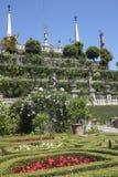 Sikt av trädgårdarna på Isola Bella, sjö Maggiore Royaltyfria Bilder