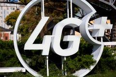 Sikt av trådlös offentlig hotspot för 4G LTE Royaltyfria Foton