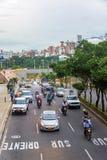Sikt av trafik i Bucaramanga Arkivfoton