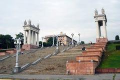 Sikt av trappan i Volgograd Fotografering för Bildbyråer