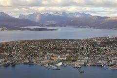 Sikt av Tromso Royaltyfri Foto